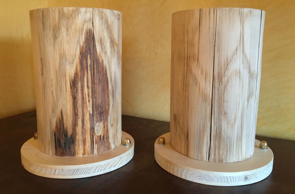 Gradino con base semplice tonda – scortecciato e levigato
